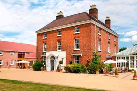 Hadley Park House Hotel - Overnight Shropshire Georgian Manor Stay with Dinner - Save 40%