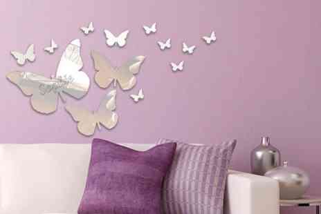 Mungai Mirrors - Seven piece butterfly mirror set - Save 69%