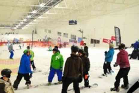 SNO!zone Milton Keynes - One Hour Private Beginner Ski or Snowboarding Lesson For Family of Four - Save 62%