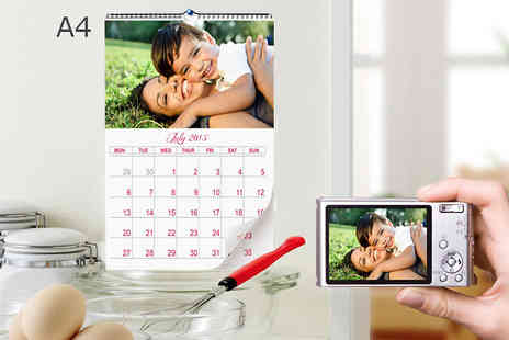 2M Print - A4 Personalised Calendar - Save 71%