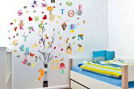 kissesandcreations - Choice of Kids Wall Sticker Animals and Butterflies, Monkey Tree Height Chart, Alphabet Tree, or Picture Frame Tree - Save 70%