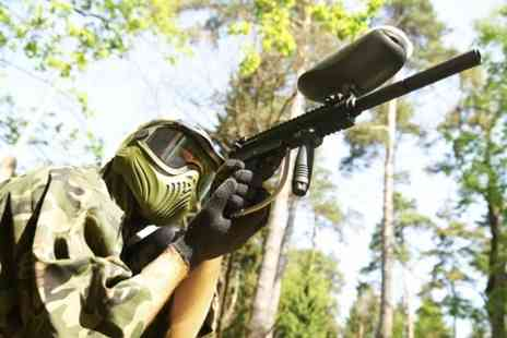 Allout Adventures - Paintballing For Five With Lunch - Save 91%