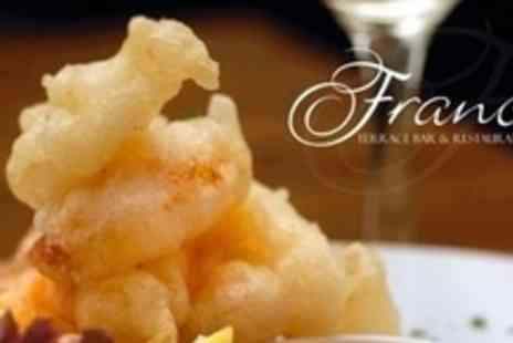 Franco's Terrace Bar & Restaurant - Two Course Italian Lunch For Two - Save 63%