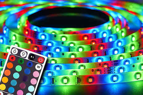Zip Gadgets - Five Metre LED Strip and Remote - Save 67%