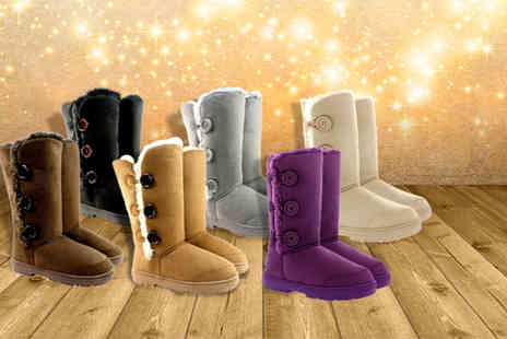 Shubox - Faux fur lined snow boots in a choice of 6 colours - Save 0%