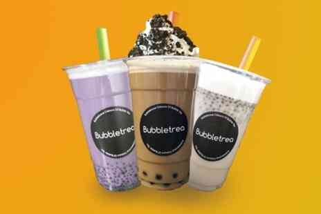 Bubbletrea - Two Bubble Teas With a Choice of Toppings  - Save 49%