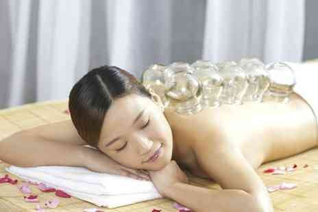 Dual Vitality - Chinese Cupping and Lymphatic Massage Plus Body Scrub or Abdominal Massage  - Save 77%