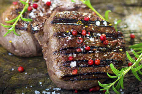 Best Restaurant - Sirloin steak meal for two with trimmings and wine - Save 54%