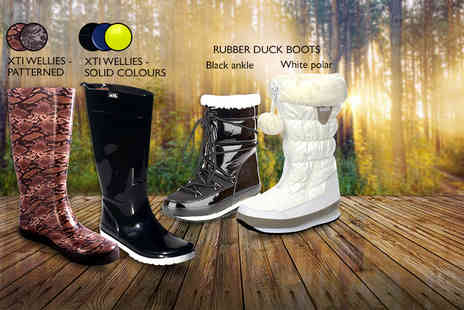 Mrs Marcos - Pair of wellies in a choice of 6 designs and various colours - Save 0%
