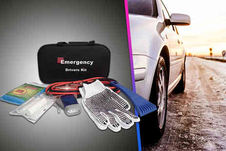 BGSL - Five piece emergency drivers kit including jump start cables, first aid kit & more - Save 43%