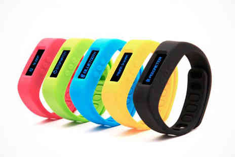 Bluetooth Bracelet - Bluetooth Lifestyle Bracelet in Blue, Black, Green, Yellow, or Hot Pink - Save 72%