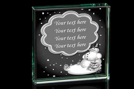 Laser Pics - Personalised Crystal Xmas Card - Save 58%