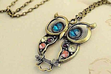 The London Touch - Vintage Owl Pendant Necklace  - Save 85%