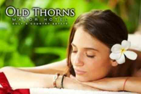Old Thorns Manor Hotel - Hampshire Spa Package For One or Two With Massage - Save 62%