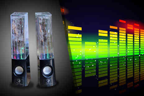 Excess Retail - Pair of LED dancing water speakers - Save 59%