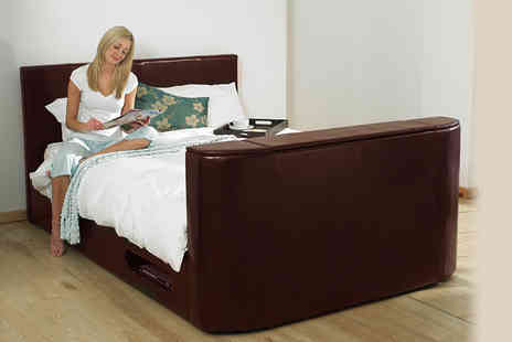 Wowcher - Double Hollywood faux leather TV bed - Save 46%
