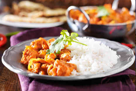 Chutney - Indian meal for two including rice and a half pint of beer each - Save 43%