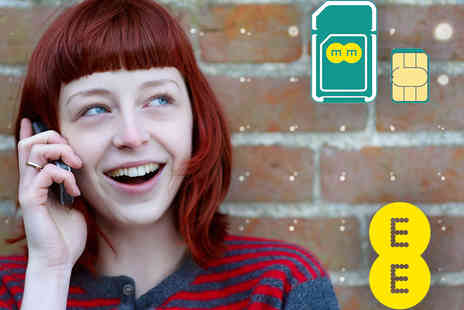 EE SIM - EE SIM only 12 month contract with a £70 Amazon gift certificate - Save 87%