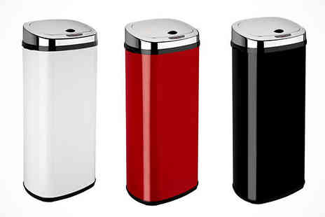 Bathroom Bulldogs - 50 Litre Motion Sensor Bin - Save 63%
