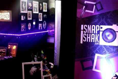 SnapShak - Two Hours Mobile Photobooth Hire With Prints For 200 People - Save 68%