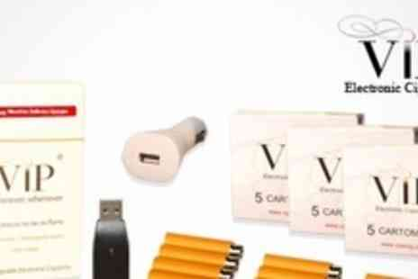 VIP - E Cigarette Starter Kit With 17 Cartomizer Refills - Save 60%