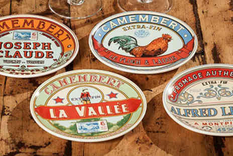 Home wareltd - 4 Vintage French Design Cheese Serving Plates - Save 70%