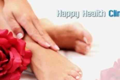 Happy Health Clinics - Full Medical Pedicure With Cryosurgery Verruca or Wart Treatment - Save 76%