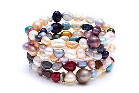 YOLO Ventures - Multi Colour Pearl Stretch Stacking Bracelets - Save 0%