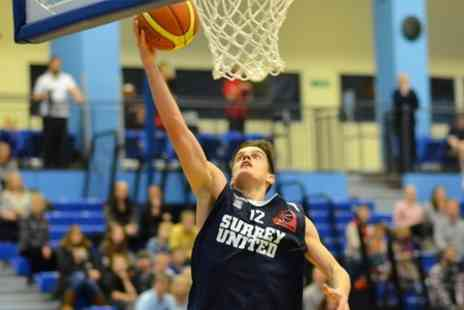 Surrey Sports Park -  Basketball Adult Tickets to Surrey United v Leicester Riders or Sheffield Sharks - Save 50%