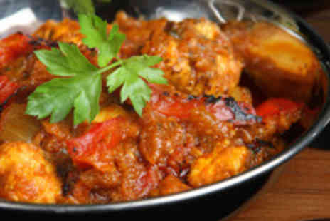 Mela Restaurant - Traditional Two Course Indian Meal with a Carafe of Wine for Two - Save 45%
