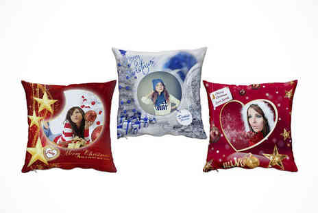 w Talk - Personalised Christmas Cushion - Save 59%