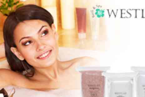 Westlab - Bath time luxury pamper package including Dead Sea Salt - Save 62%