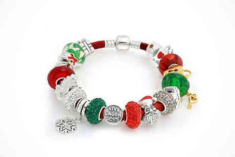 Fashionably Festive - Christmas Charm Bracelet - Save 78%