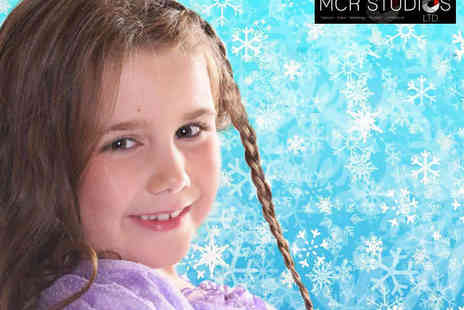 MCR Studios - Frozen Inspired Winter Princess Photo Shoot for up to Two Children Including 16x12-inch Print and £100 Voucher for CDs - Save 91%