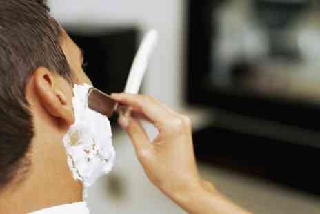 The Mens Room - Cut Throat Shave, Cut and Finish or Both Plus Face Scru - Save 53%