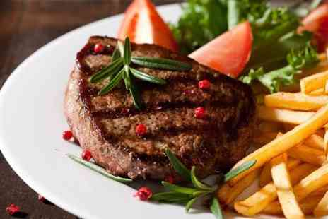 Collage - Steak Frites and a Large Glass of Wine For Two  - Save 53%