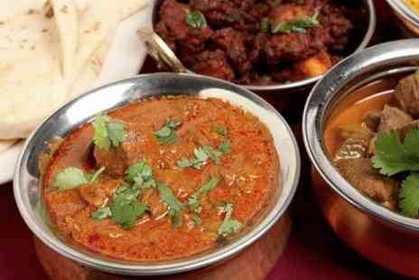 Indian Sizzler - Two Course Meal With Rice or Naan Plus Wine For Two - Save 58%