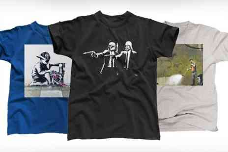 Printed Wardrobe - Banksy T-Shirts for Men and Women - Save 50%