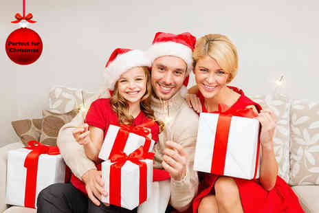 "NYC Studios - Family photoshoot including four 6"" x 8"" prints and 10 Christmas cards  - Save 97%"