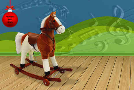 myinternetwarehouse - Kids deluxe rocking horse with sound effects - Save 50%