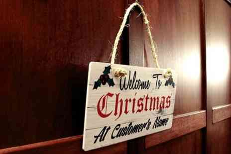 PhotoART Warehouse - Personalised Christmas Door Sign - Save 67%