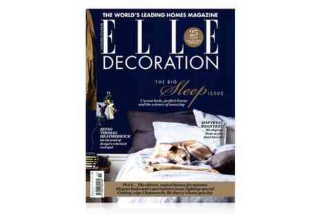 Hearst Magazines - 12 Month Elle Decoration Magazine Subscription - Save 56%