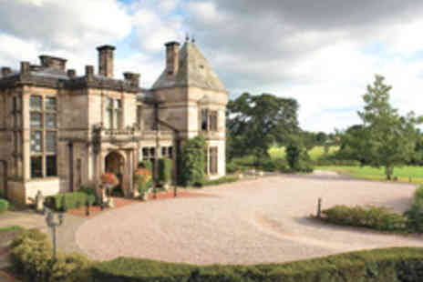 Hand Picked Hotels -  Elegant Dining Stay in Cheshire with Three Course Dinner and Sparkling Wine  at Rookery Hall Hotel & Spa - Save 35%