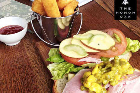 The Honor Oak - £50 for Two  to Spend on Food with Glass of Prosecco Each - Save 60%