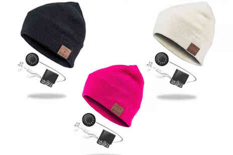 Marvellous Items - Beanie Hat with Bluetooth Speakers and Mic - Save 44%