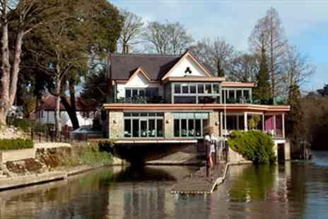 Boulters Riverside Brasserie - Berkshire Riverside Dinner including Drinks for Two - Save 58%