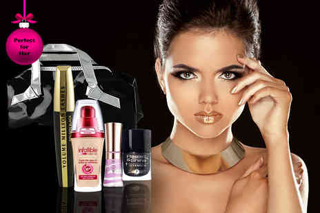 Look N Style - Five piece LOreal makeup gift set including mascara, foundation, nail varnish, lipgloss and bag - Save 70%