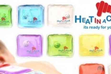 Heat In A Click - Four Reusable Pocket Heat Pads - Save 69%