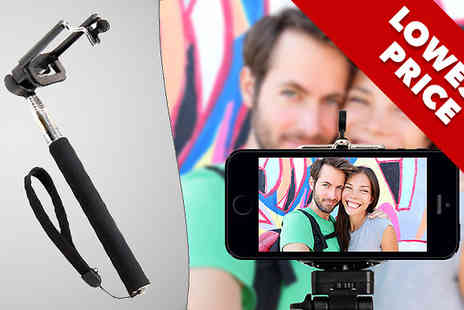 Zip Gadgets - Extendable Selfie Stick and Remote  - Save 68%