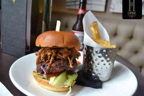 Hyde Bar - Burger Meal, Cocktail, and Side to Share for Two - Save 55%
